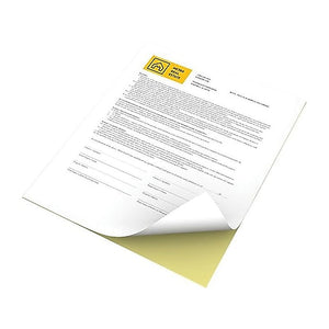 "8 1/2"" x 11"" Carbonless Paper, White/Canary, 2500/Carton"