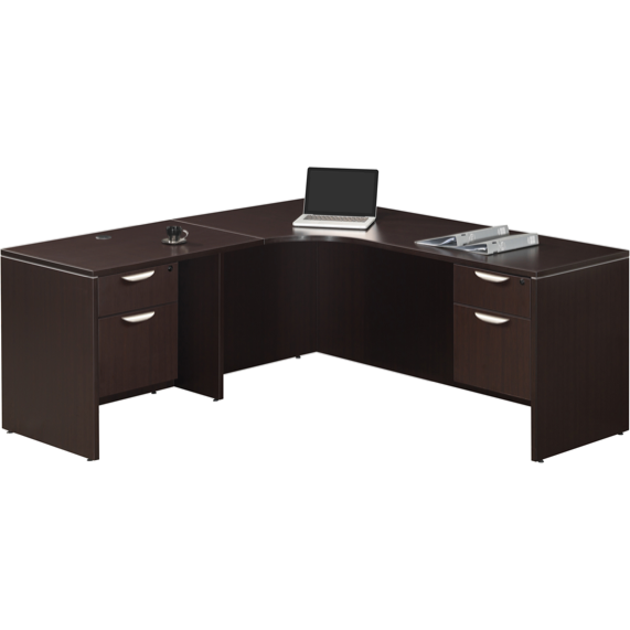 Empresario L-Shaped Desk with Two Hanging Box/Files