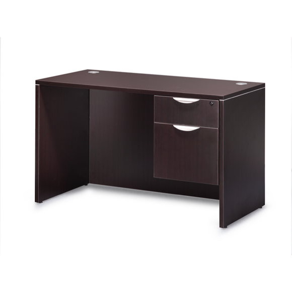 Empresario Straight Desk Shell with Full Modesty Panel and Hanging Box/File Pedestal