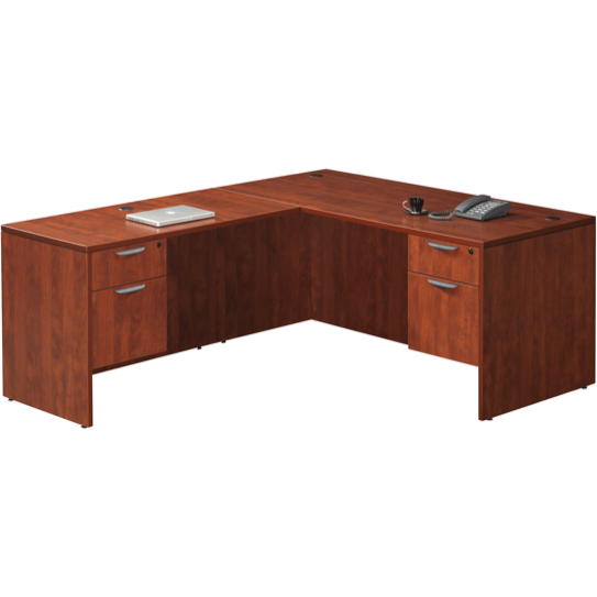 Empresario Administrative L-Shaped Desk with Two Box/File Pedestals
