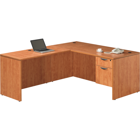 Empresario Administrative L-Shaped Desk with Box/File Pedestal