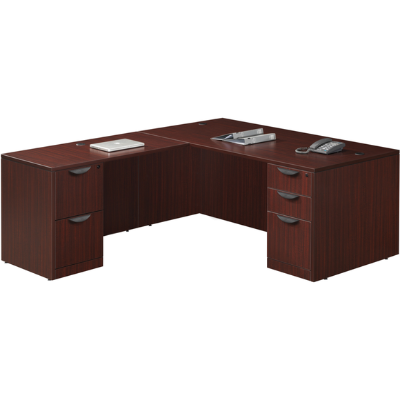 Empresario L-Shaped Desk with Box/Box/File and File/File Pedestals