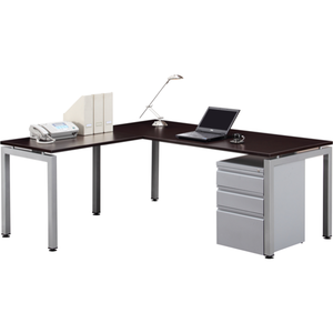 Lucid L-Shaped Desk with File Drawers