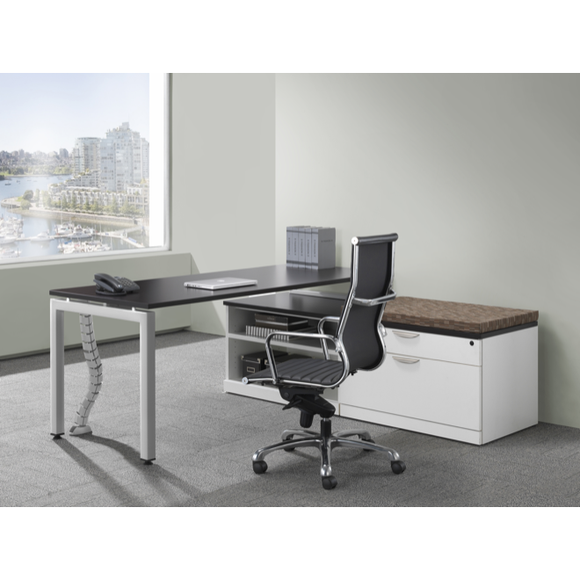 Lucid Simple Desk with Credenza