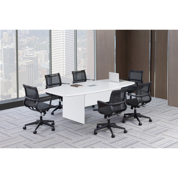 Lucid Systems Modern 8-Ft. Boat Shaped Conference Table