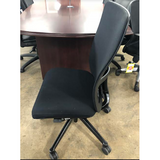 Haworth Zody Pre-Owned Chair Armless Mesh Back In Black Fully Adjustable Model, Executive Office Chair