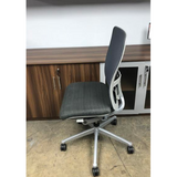 Haworth Zody Pre-Owned Chair Armless Mesh Back In Gray Fully Adjustable Model, Executive Office Chair
