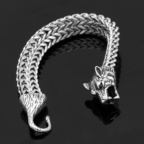 mens viking wolf bracelet
