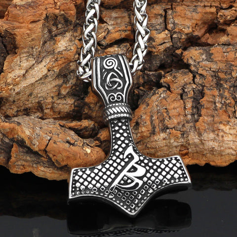 Mjolnir Necklace Stainless Steel