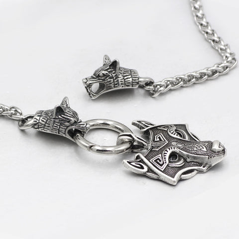 Image of norse  wolf pendant necklace