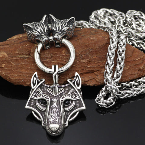 Image of wolf head  necklace - King chain