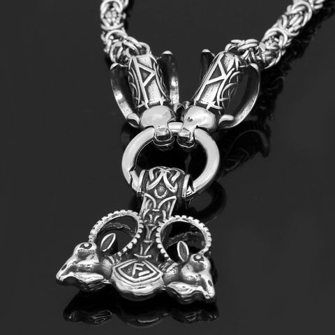 Image of Goat With Mjolnir Necklace -King Chain