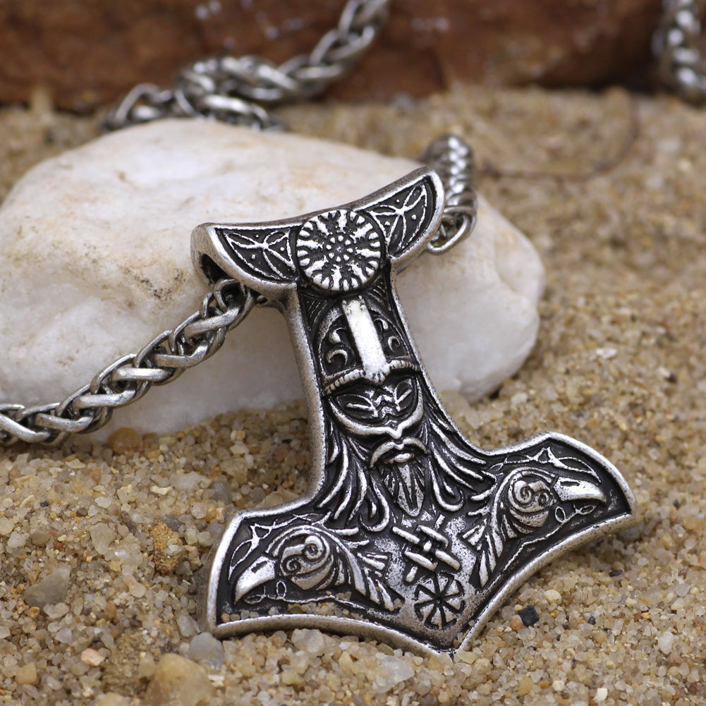 Raven Thor Hammer Necklace