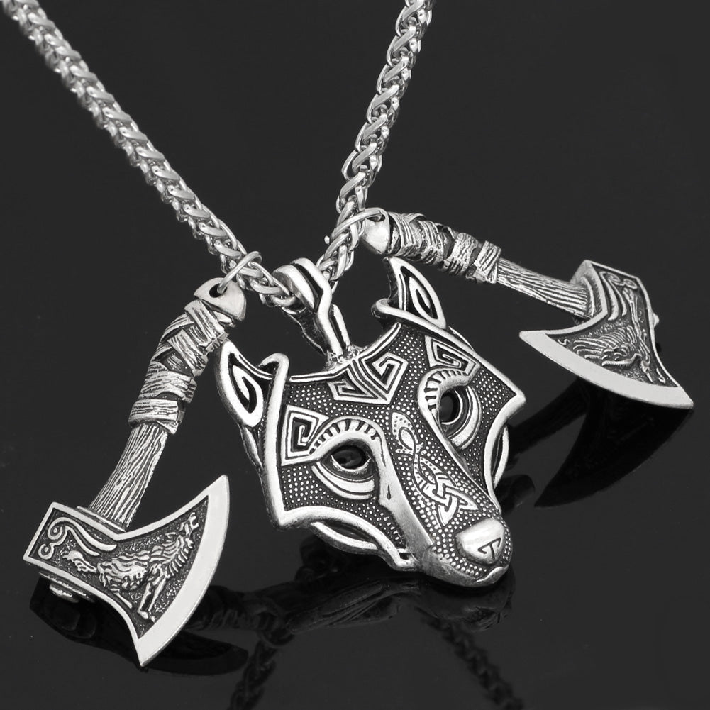 wolf head pendant necklace