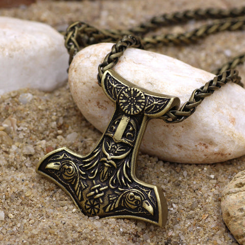 Image of Raven Thor Hammer Necklace