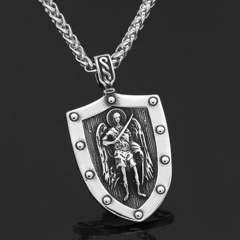 Image of ST.MICHAEL ARCHANGEL NECKLACE Stainless Steel