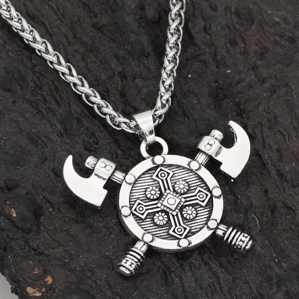 axe amulet shield  necklace