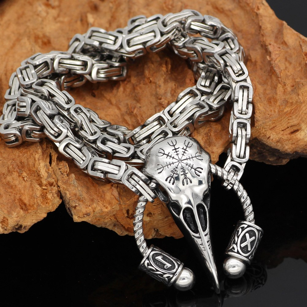 raven rune helm of awe necklace