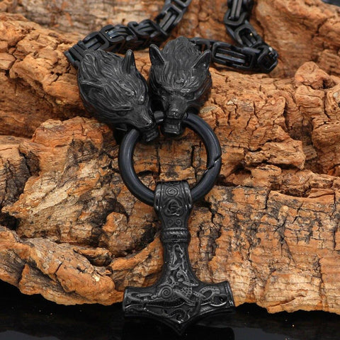 Norse Viking Amulet Thor Hammer Necklace Viking King Chain