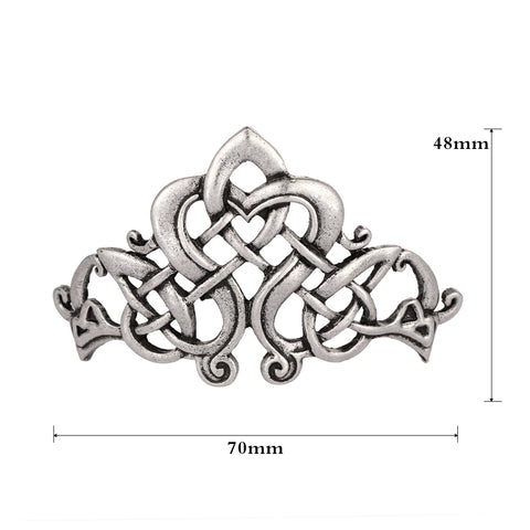 Image of Large Celtics Knots Crown Hairpins
