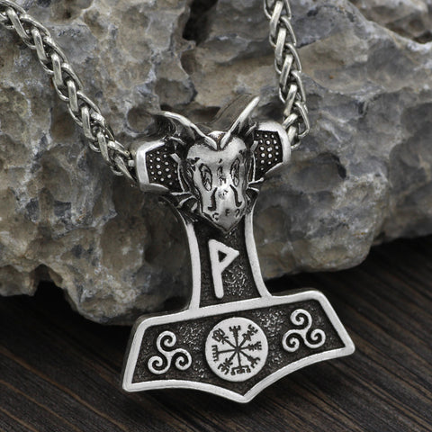 Image of thor hammer necklace