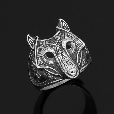 Image of wolf  ring