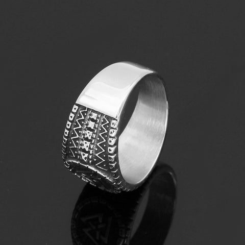 Image of valknut rune amulet ring