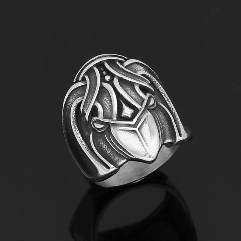 Image of raven pagan ring
