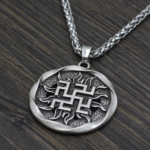 Image of runes Valkyrie jewelry necklace