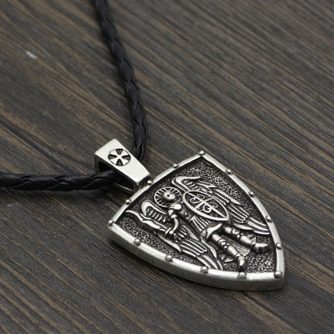 Image of shield necklace style jewelry