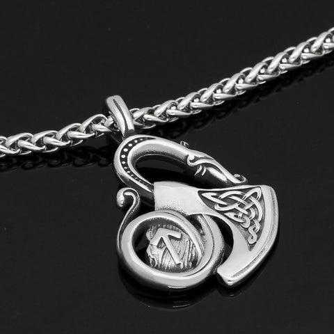 Image of axe rune necklace