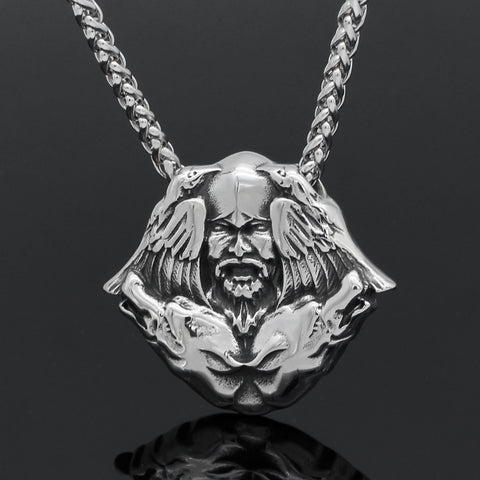 Image of wolf Scandinavian necklace