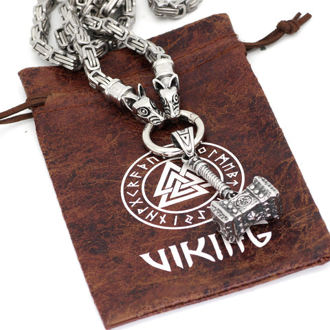 Image of Mjolnir  necklace -king chain