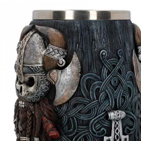 Image of Viking Warrior Tankard with Mjolnir Handle