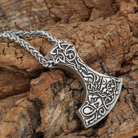 Image of Axe pagan talisman  Necklace