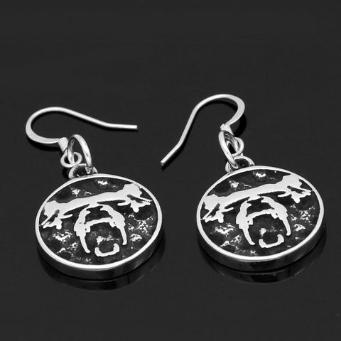 Image of Bear Stainless steel earrings