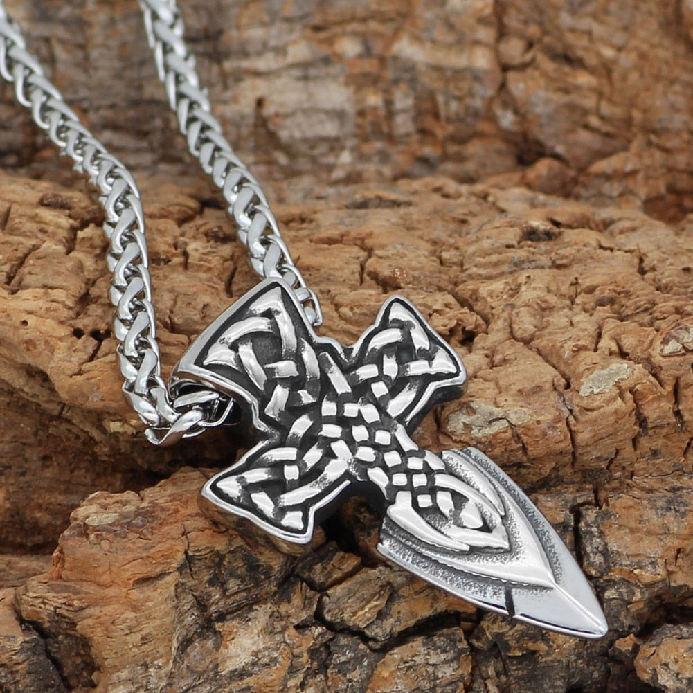 Freyr Sword Amulet Stainless steel  Necklace