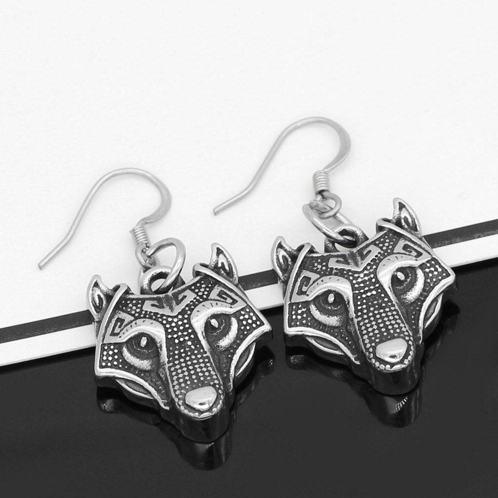 Wolf Head earrings