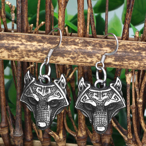 Image of Wolf Head earrings