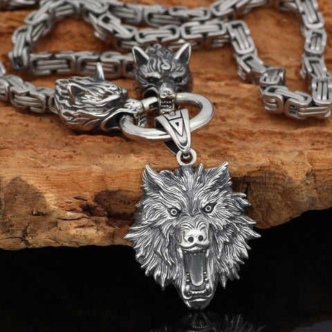 Image of Freki Necklace Stainless Steel -king chain