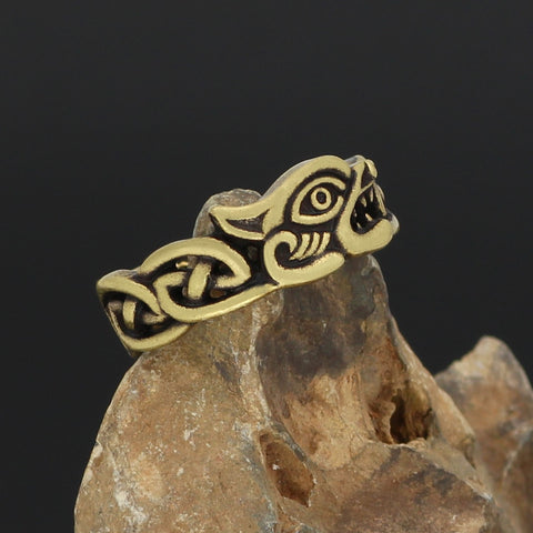 Image of Scandinavian Fenrir  ring