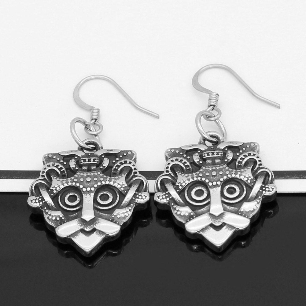 odin face earrings