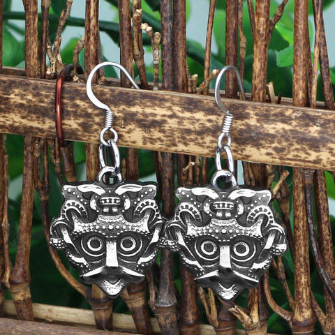 Image of odin face earrings