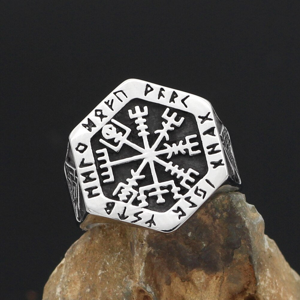 Vegvisir  Rings Stainless Steel