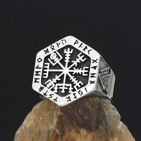 Image of Vegvisir  Rings Stainless Steel