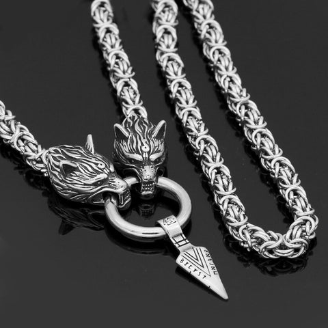 Image of Odin Sword Gungnir Necklace Stainless steel -King Chain