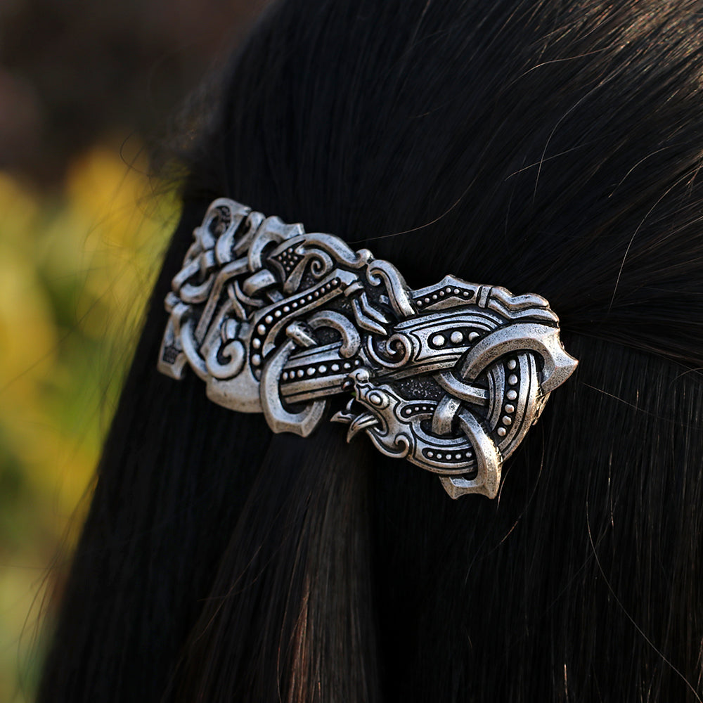Fenrir Wolf Large Barrette French Hair Clip