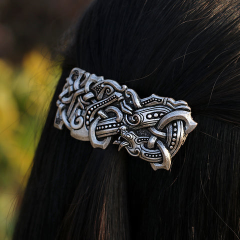 Image of Fenrir Wolf Large Barrette French Hair Clip