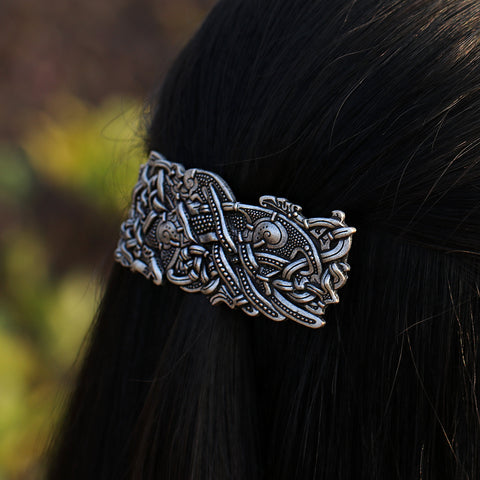 Image of Dragon Barrette Celtics Knots Hair Clip