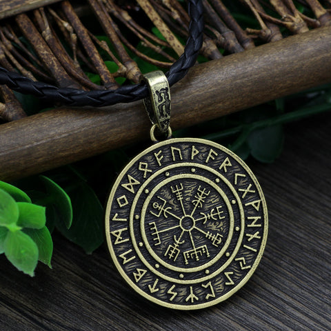 Image of compass runes necklace